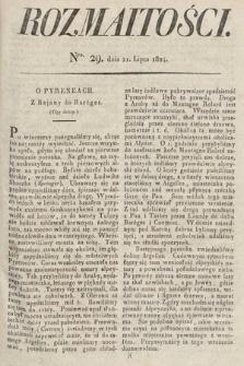 Rozmaitości : oddział literacki Gazety Lwowskiej. 1824, nr29