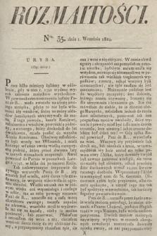 Rozmaitości : oddział literacki Gazety Lwowskiej. 1824, nr35