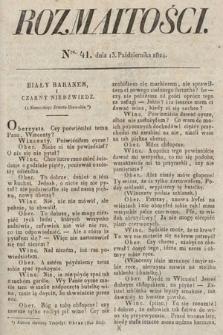Rozmaitości : oddział literacki Gazety Lwowskiej. 1824, nr41
