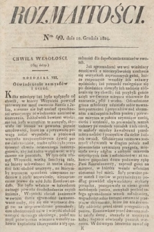 Rozmaitości : oddział literacki Gazety Lwowskiej. 1824, nr49