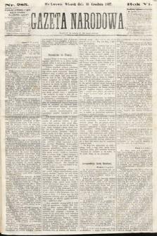 Gazeta Narodowa. 1867, nr285