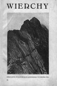 Wierchy : rocznik poświęcony górom igóralszczyźnie. R.2, 1924