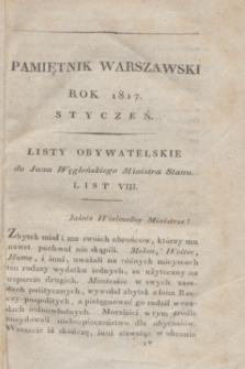Pamiętnik Warszawski : czyli dziennik nauk i umieiętności. [R.3], [T.7], [1] (styczeń 1817) + wkładka
