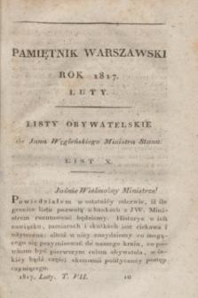 Pamiętnik Warszawski : czyli dziennik nauk i umieiętności. [R.3], [T.7], [2] (luty 1817)
