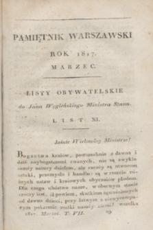 Pamiętnik Warszawski : czyli dziennik nauk i umieiętności. [R.3], [T.7], [3] (marzec 1817)