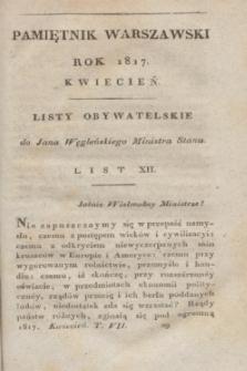 Pamiętnik Warszawski : czyli dziennik nauk i umieiętności. [R.3], [T.7], [4] (kwiecień 1817) + wkładka
