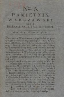 Pamiętnik Warszawski. R.5, T.14, ner 5 (maj 1819)