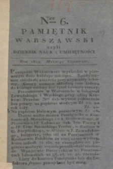 Pamiętnik Warszawski. [R.5], T.14, ner 6 (czerwiec 1819)
