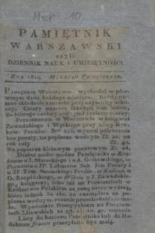 Pamiętnik Warszawski. R.5, T.15, ner 10 (październik 1819)