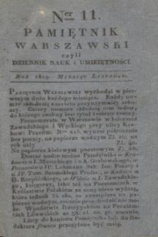 Pamiętnik Warszawski. R.5, T.15, Ner 11 (listopad 1819) + dod.