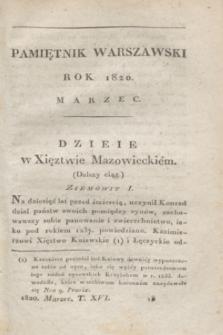 Pamiętnik Warszawski. R.6, T.16, [ner 3] (marzec 1820)