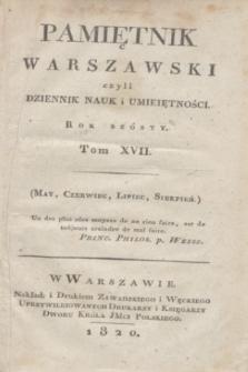 Pamiętnik Warszawski. R.6, T.17, [ner 5] (maj 1820)