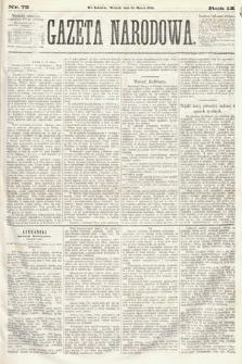 Gazeta Narodowa. 1870, nr72