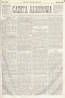 Gazeta Narodowa. 1870, nr79