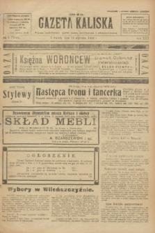 Gazeta Kaliska : pismo codzienne, polityczne, społeczne i ekonomiczne. R.30, № 9 (12 stycznia 1922) = nr 7048