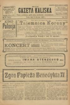 Gazeta Kaliska : pismo codzienne, polityczne, społeczne i ekonomiczne. R.30, № 20 (25 stycznia 1922) = nr 7059