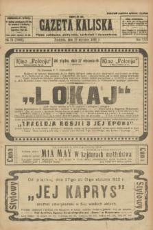 Gazeta Kaliska : pismo codzienne, polityczne, społeczne i ekonomiczne. R.30, № 24 (29 stycznia 1922) = nr 7063