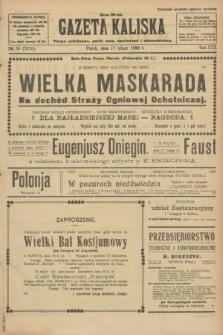 Gazeta Kaliska : pismo codzienne, polityczne, społeczne i ekonomiczne. R.30, № 39 (17 lutego 1922) = nr 7078