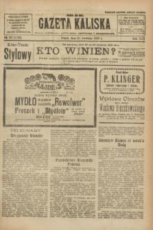 Gazeta Kaliska : pismo codzienne, polityczne, społeczne i ekonomiczne. R.30, № 90 (21 kwietnia 1922) = nr 7129
