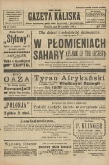 Gazeta Kaliska : pismo codzienne, polityczne, społeczne i ekonomiczne. R.30, № 98 (30 kwietnia 1922) = nr 7137