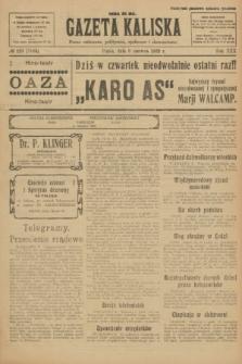 Gazeta Kaliska : pismo codzienne, polityczne, społeczne i ekonomiczne. R.30, № 129 (9 czerwca 1922) = nr 7168