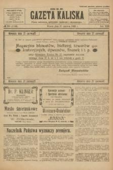 Gazeta Kaliska : pismo codzienne, polityczne, społeczne i ekonomiczne. R.30, № 143 (27 czerwca 1922) = nr 7182