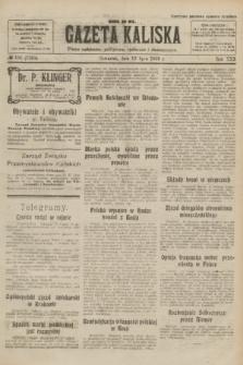 Gazeta Kaliska : pismo codzienne, polityczne, społeczne i ekonomiczne. R.30, № 156 (13 lipca 1922) = nr 7195