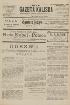 Gazeta Kaliska : pismo codzienne, polityczne, społeczne i ekonomiczne. R.30, № 157 (14 lipca 1922) = nr 7196