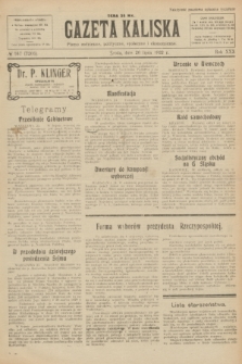 Gazeta Kaliska : pismo codzienne, polityczne, społeczne i ekonomiczne. R.30, № 167 (26 lipca 1922) = nr 7206