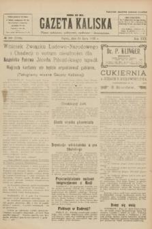 Gazeta Kaliska : pismo codzienne, polityczne, społeczne i ekonomiczne. R.30, № 169 (28 lipca 1922) = nr 7208