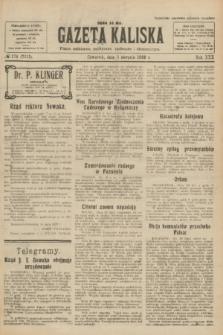 Gazeta Kaliska : pismo codzienne, polityczne, społeczne i ekonomiczne. R.30, № 174 (3 sierpnia 1922) = nr 7213
