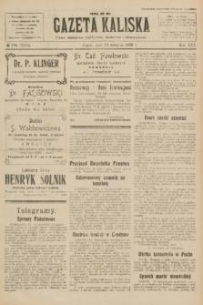 Gazeta Kaliska : pismo codzienne, polityczne, społeczne i ekonomiczne. R.30, № 186 (18 sierpnia 1922) = nr 7225