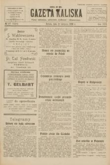Gazeta Kaliska : pismo codzienne, polityczne, społeczne i ekonomiczne. R.30, № 187 (19 sierpnia 1922) = nr 7226