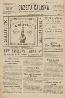 Gazeta Kaliska : pismo codzienne, polityczne, społeczne i ekonomiczne. R.30, № 190 (23 sierpnia 1922) = nr 7229