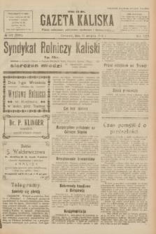 Gazeta Kaliska : pismo codzienne, polityczne, społeczne i ekonomiczne. R.30, № 197 (31 sierpnia 1922) = nr 7236