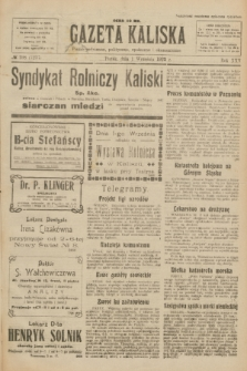 Gazeta Kaliska : pismo codzienne, polityczne, społeczne i ekonomiczne. R.30, № 198 (1 września 1922) = nr 7237