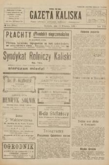 Gazeta Kaliska : pismo codzienne, polityczne, społeczne i ekonomiczne. R.30, № 205 (10 września 1922) = nr 7244