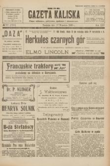 Gazeta Kaliska : pismo codzienne, polityczne, społeczne i ekonomiczne. R.30, № 211 (17 września 1922) = nr 7250