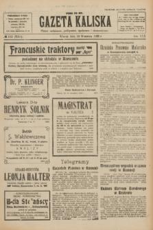 Gazeta Kaliska : pismo codzienne, polityczne, społeczne i ekonomiczne. R.30, № 212 (19 września 1922) = nr 7251