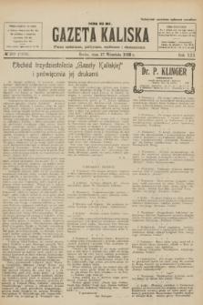 Gazeta Kaliska : pismo codzienne, polityczne, społeczne i ekonomiczne. R.30, № 219 (27 września 1922) = nr 7258