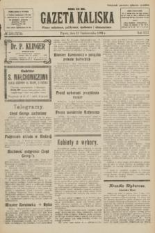 Gazeta Kaliska : pismo codzienne, polityczne, społeczne i ekonomiczne. R.30, № 233 (13 października 1922) = nr 7272