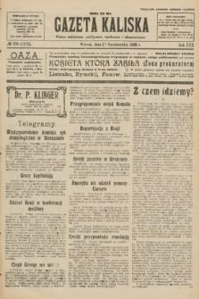 Gazeta Kaliska : pismo codzienne, polityczne, społeczne i ekonomiczne. R.30, № 236 (17 października 1922) = nr 7275