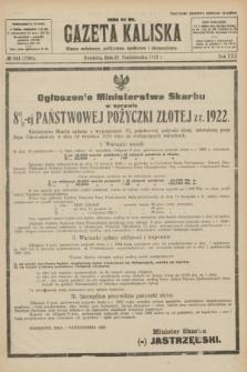 Gazeta Kaliska : pismo codzienne, polityczne, społeczne i ekonomiczne. R.30, № 241 (22 października 1922) = nr 7280