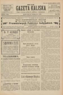 Gazeta Kaliska : pismo codzienne, polityczne, społeczne i ekonomiczne. R.30, № 246 (28 października 1922) = nr 7285