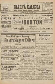Gazeta Kaliska : pismo codzienne, polityczne, społeczne i ekonomiczne. R.30, № 256 (10 listopada 1922) = nr 7295