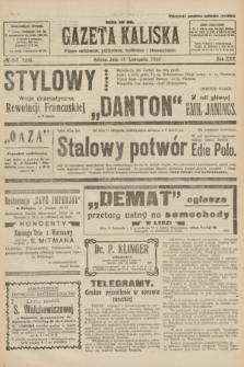Gazeta Kaliska : pismo codzienne, polityczne, społeczne i ekonomiczne. R.30, № 257 (11 listopada 1922) = nr 7296