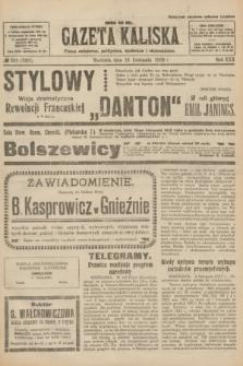 Gazeta Kaliska : pismo codzienne, polityczne, społeczne i ekonomiczne. R.30, № 258 (12 listopada 1922) = nr 7297