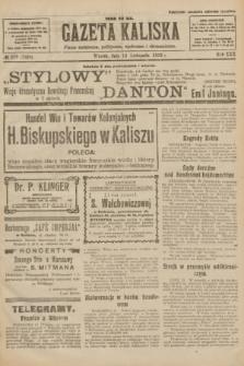 Gazeta Kaliska : pismo codzienne, polityczne, społeczne i ekonomiczne. R.30, № 259 (14 listopada 1922) = nr 7298