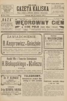Gazeta Kaliska : pismo codzienne, polityczne, społeczne i ekonomiczne. R.30, № 264 (19 listopada 1922) = nr 7303