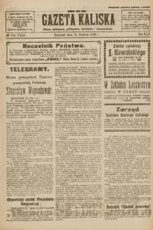 Gazeta Kaliska : pismo codzienne, polityczne, społeczne i ekonomiczne. R.30, № 290 (21 grudnia 1922) = nr 7329